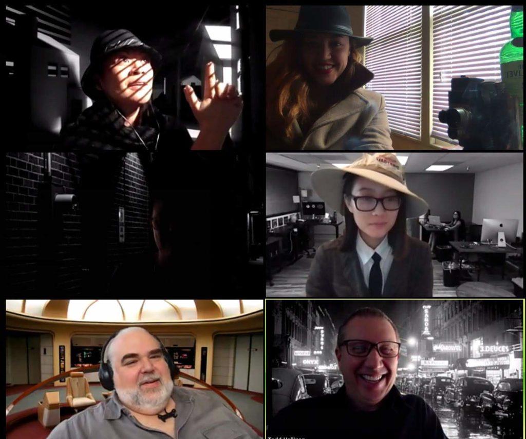 Our Film Noir themed meeting via zoom.